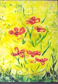 encaustic wax hot air flowers